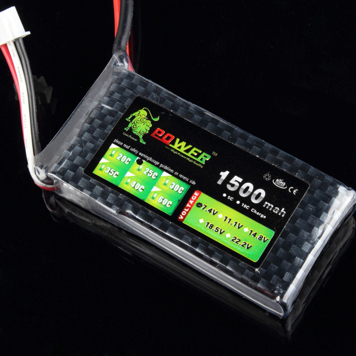 1 pcs Lion Power Lipo battery 2S 7.4V 1500MAH 25C Max 35C fast charging RC Lipo battery for rc boat helicopter