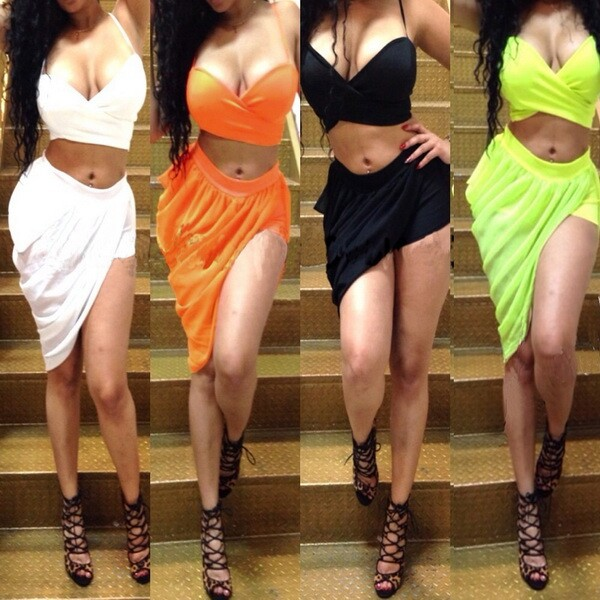 c7a1aab4f609 Party Dress Women Summer Dress 2015 Fashion Two Pieces Outfit 4 color  Casual Bandage dress V Neck Bodycon Night Sexy Club Dress-in Dresses from  Women's ...