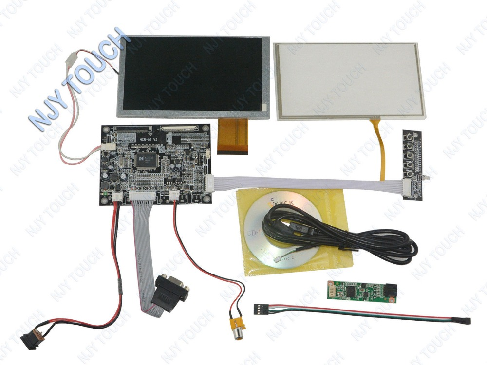6.2 TFT TM062RDH03 800x480 LCD Screen Touch Panel USB + VGA AV Controller Kit