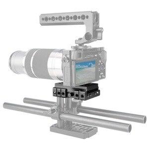 """Image 5 - NICEYRIG سريعة الإصدار بلايت ل كما ستستهدف كاميرا ترايبود اللوح الأساس كما ستستهدف السكك الحديدية DSLR 1/4 """"3/8"""" المسمار هيكل قفصي الشكل للكاميرا تزوير"""