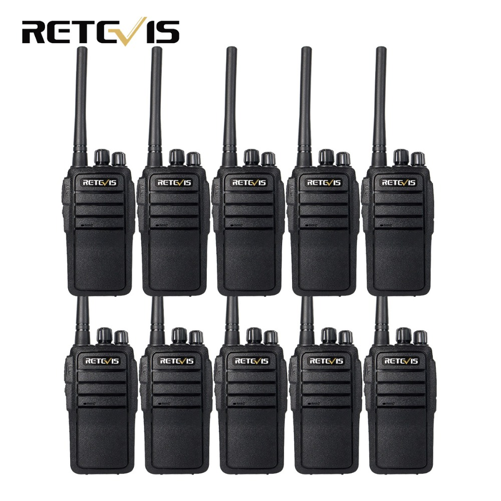 10pcs Walkie Talkie Retevis RT21 UHF 400-480MHz 2,5W 16 kanaler batteri VOX Two Way Radio Comunicador