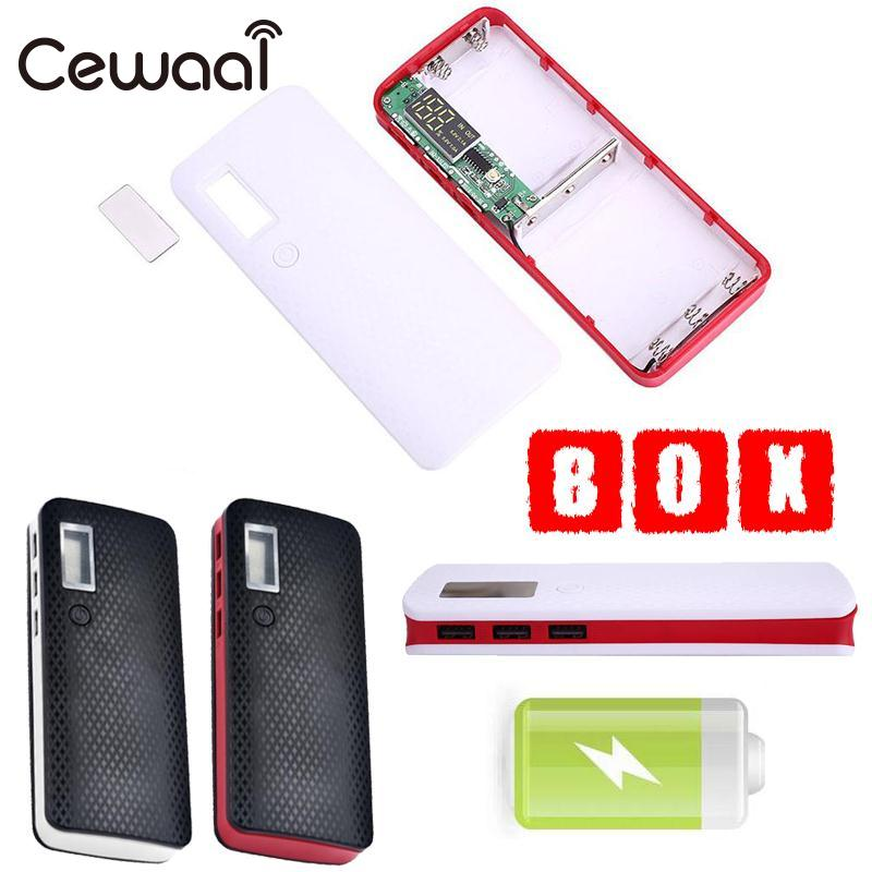 Cewaal 1 Pcs 5x18650 DIY Power Bank Battery Charging Box Case Digital LCD Display powerbank 18650 Protector Case DIY KIT diy kit p10 led display advertising outdoor full color module 4 pcs d10 control card 1 pcs jn power supply 1 pcs