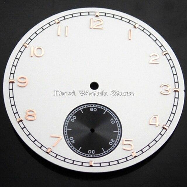 54623ace50a Corgeut 38.9mm mostrador do relógio Branco ajuste eta 6498 Sea-gull st36  movimento mens