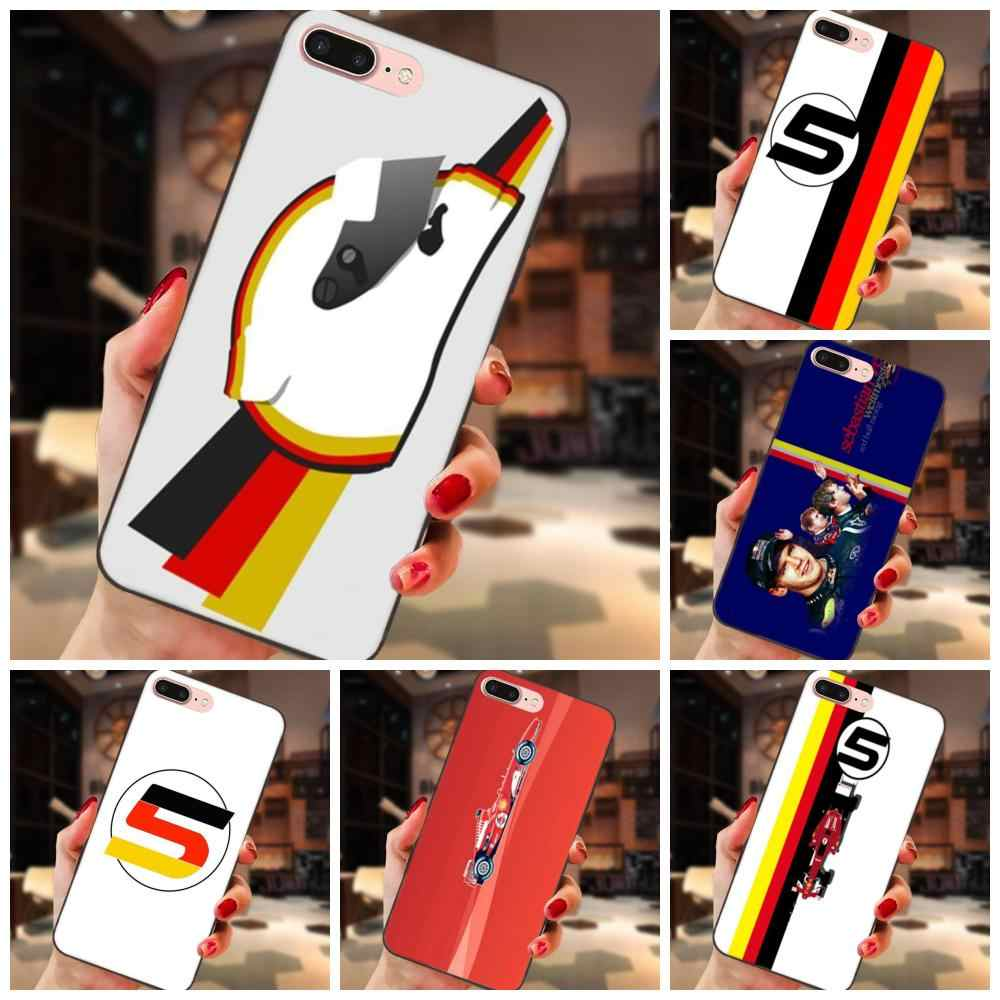 Soft TPU Hot Selling Racing Sebastian Vettel 5 For Apple iPhone X XS Max XR 4 4S 5 5S SE 6 6S 7 8 Plus