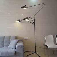 Black Industrial Floor lamp Studio Bedroom Living room Bed Side jielde lamp E27 bulb Vintage Loft Decor Retro tripod flood lamp
