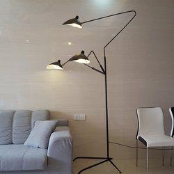 Replika przemysłowa lampa stojąca do salonu łóżko sypialniane repliki boczne projekt lampy Vintage Loft Decor Retro statyw lampy przy powodzi
