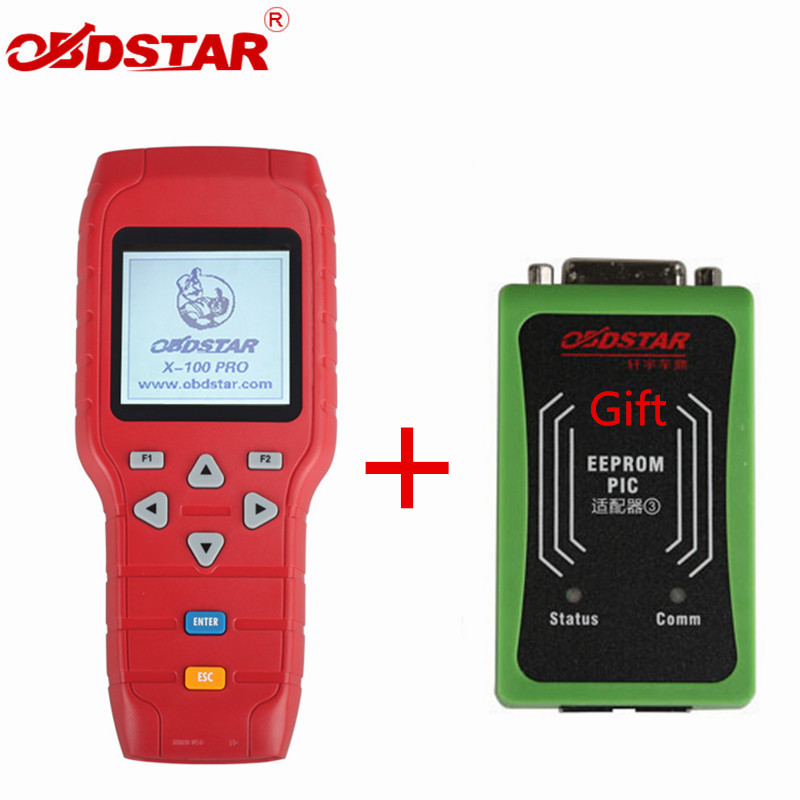 OBDSTAR X-100 PRO Auto key programmer (C+D+E) With EEPROM Adapter X100 PRO IMMO Odometer Correction OBD Software Tool original obdstar f101 for toyota immo g reset tool support g chip all key lost free update via tf card f101 obdstar free ship