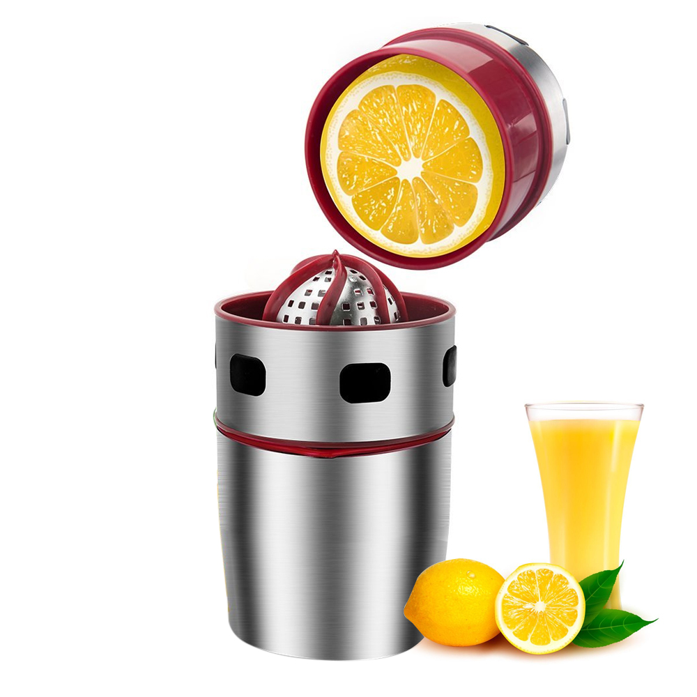 manuelle kleine Edelstahl Zitrus Zitrone Orange Bohrer Saftpresse