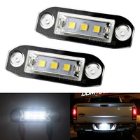 2X Car LED License Plate Lights 12V White 3 5050SMD LED Number Plate Lamp For Volvo