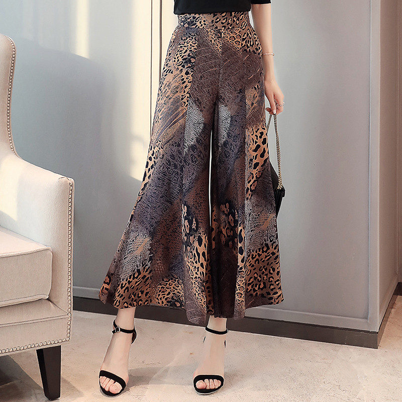 Plus Size 4XL Women   Wide     Leg     Pants   Women Streetwear High Waist Skirt   Pants   2019 Summer Trousers for Women Korean Flare   Pants