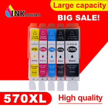 INKARENA PGI 570 CLI 571 Ink Cartridge For Canon PGI570 CLI571 PGI-570 CLI-571 Pixma MG5750 MG5751 MG5752 MG6850 MG6851 Printer