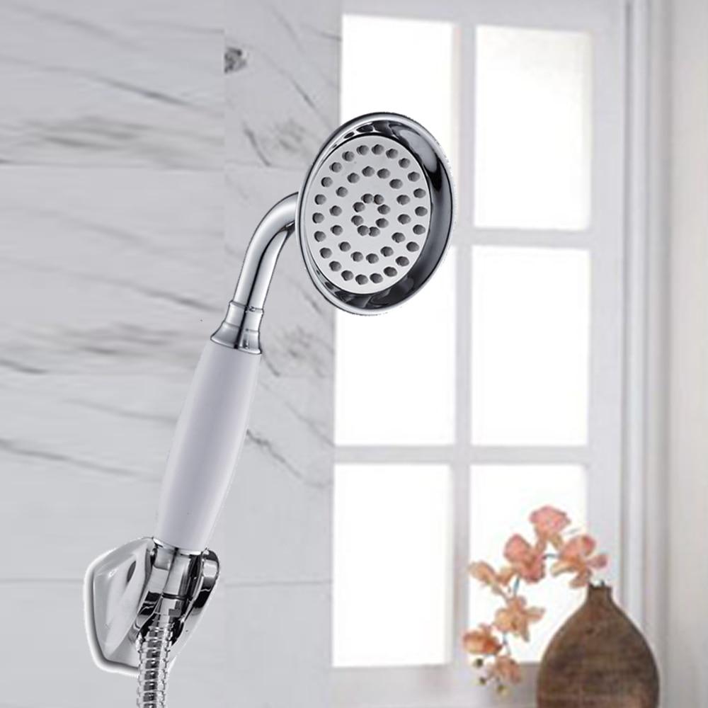 Classic High Pressurize Handheld Shower Head ABS Plastic Water Saving Shower Head Bathroom Filter Spray