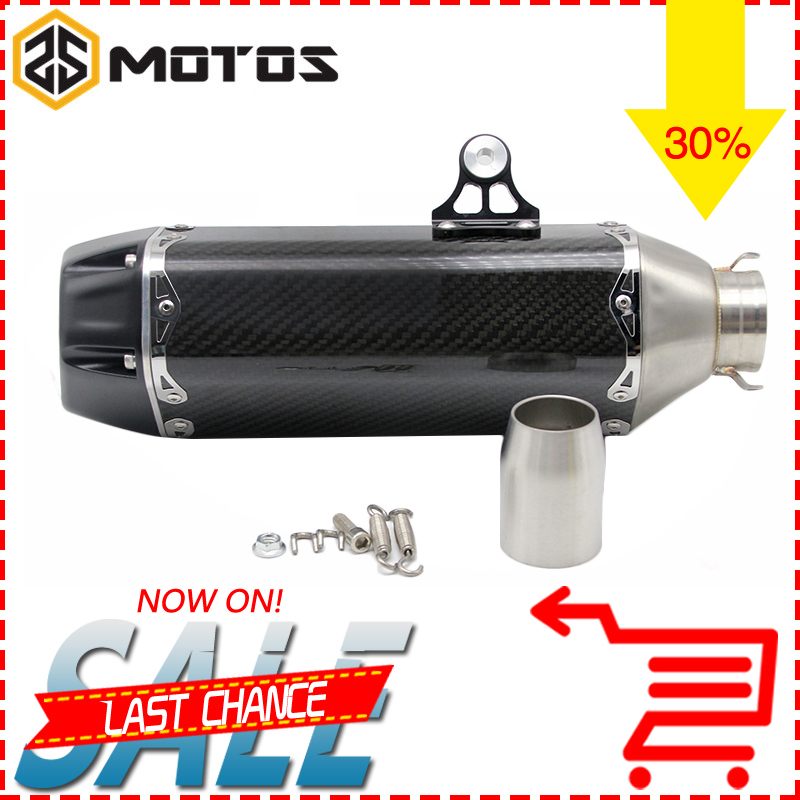 ZS MOTOS Motorcycle Exhaust Modified Muffler Pipe 36-51mm Slip-on Exhaust For Akrapovic Muffler Escape Moveable DB Killer