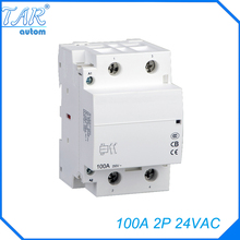 цена на 2NO WCT-100A 2P modular charging pile with household AC contactor guide rail installation 24V 220V