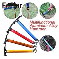 Portable Aluminum Steel Camping Hammer Axe Ultra Light Tent Nail Puller Climbing Outdoor Multi Function Tent