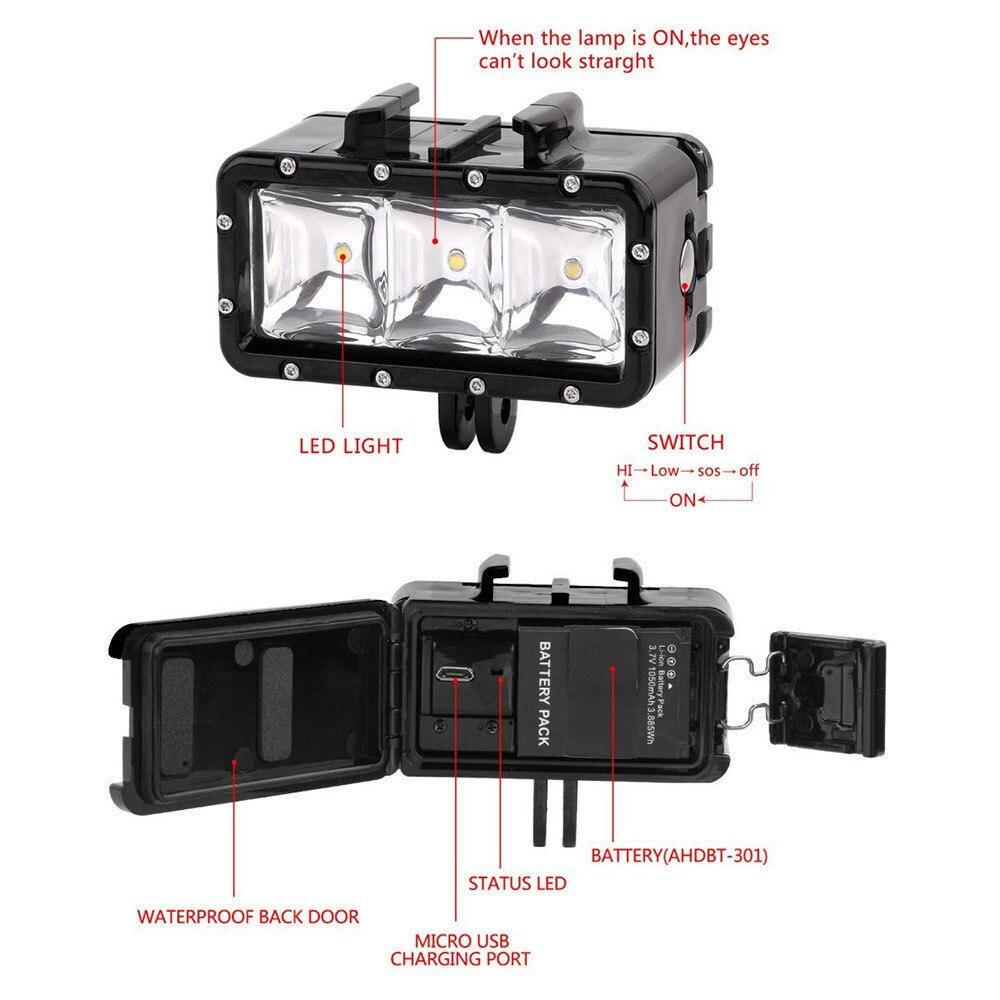 Lightdow Ronjenje LED svjetlo podvodno svjetlo za video svjetlo + - Kamera i foto - Foto 5
