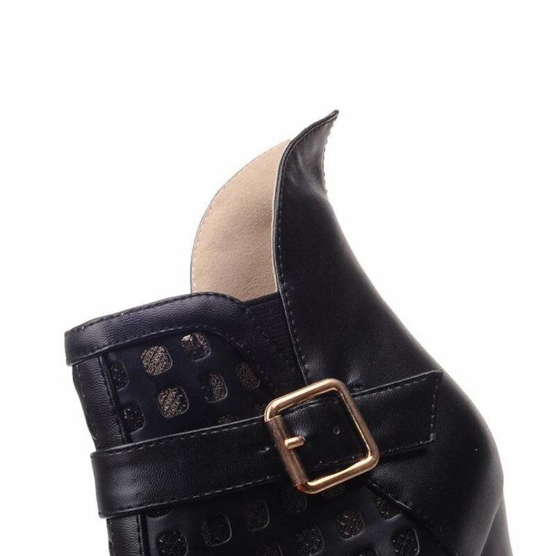 Coolcept Size 33-44 Sexy Women Hallow Out Boots Summer Peep Toe Platform Boots High Heel Shoes Women Fashion Women Footwears