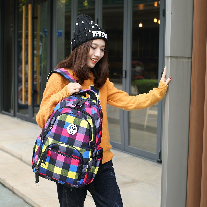 Korean Fashion Lady Backpack School Student Bag Computer Bag Travel Bag