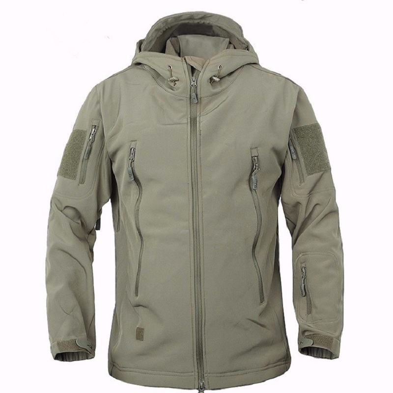 Coat-Jackets Lining Soft-Shell Military Camouflage Fleece Tactical Outdoor Waterproof