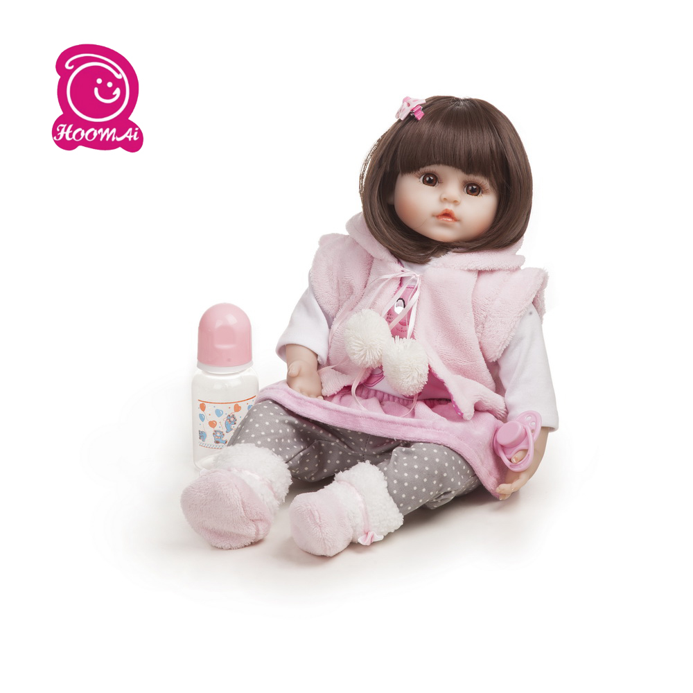 48CM Bebe Soft Body Silicone Reborn Adorable Baby Doll Toy For Girls Newborn Girl Babies Dolls Kids Gift menina surprice