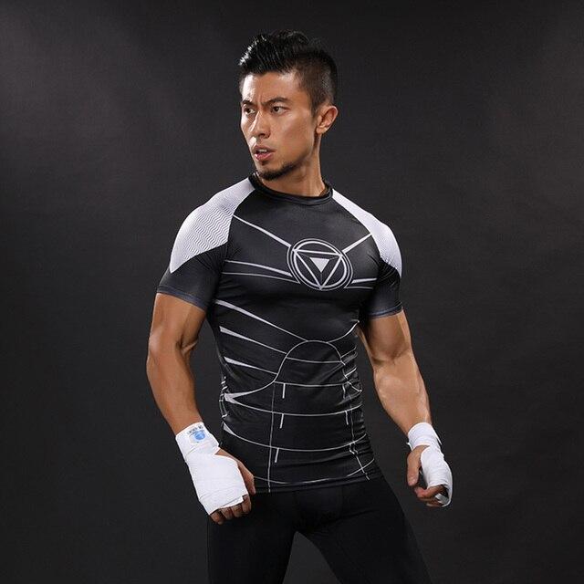 3D Imprimé T-shirts Hommes Compression Shirts Iron Man À Manches Courtes  Drôle Cosplay costume 38a99f09be2