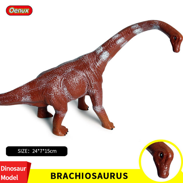 Oenux Tamanho Grande 24*7*15 cm Original Savage T-REX Brachiosaurus Dinossauro Jurassic Dinossauros Figuras de Ação Modelo Coleção brinquedo