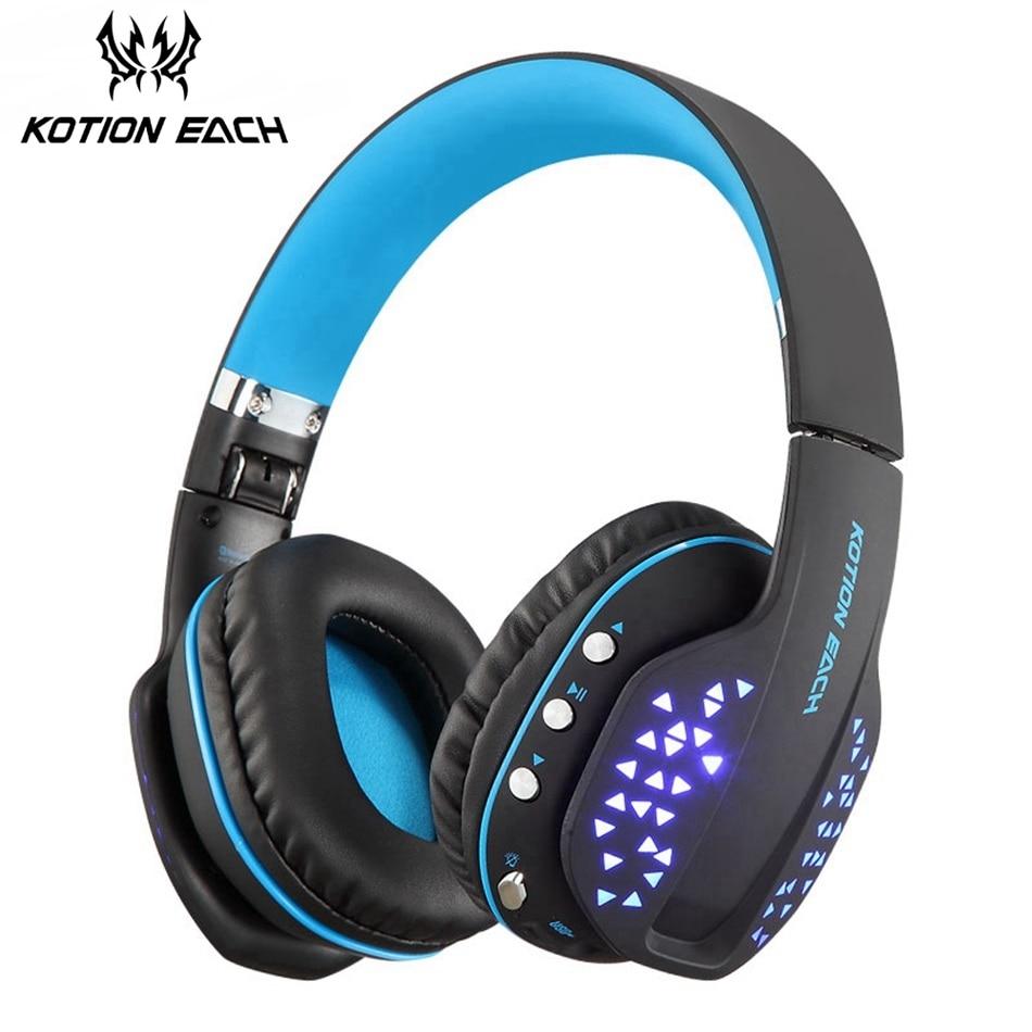 все цены на KOTION EACH B3507 Bluetooth Headphones Wireless Noise Canceling Sport Music Earphones Headsets Bass Stereo For a Mobile Phone онлайн