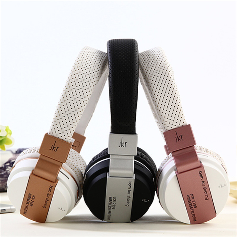 Fashion JKR-219B Bluetooth Stereo Headset Universal Wireless Bluetooth Headphone For iPhone7 iPad For Samsung S7 Xiaomi4 Huawei original roman r6000 wireless headphone bluetooth headset for samsung xiaomi iphone 7 2 in 1 usb car charger with bluetooth 4 0