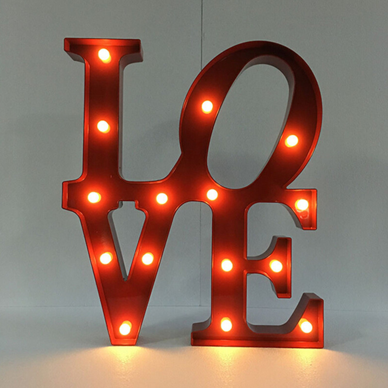 цена  3D LOVE HOME Night Lamp Marquee Sign Alphabet Night light Battery operated Letter light For Christmas Wedding Decoration  онлайн в 2017 году
