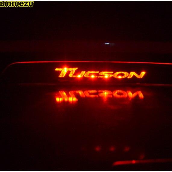 Luhuezu Stainless Steel Car Rear High Brake font b Lamp b font Frame Trim For Hyundai