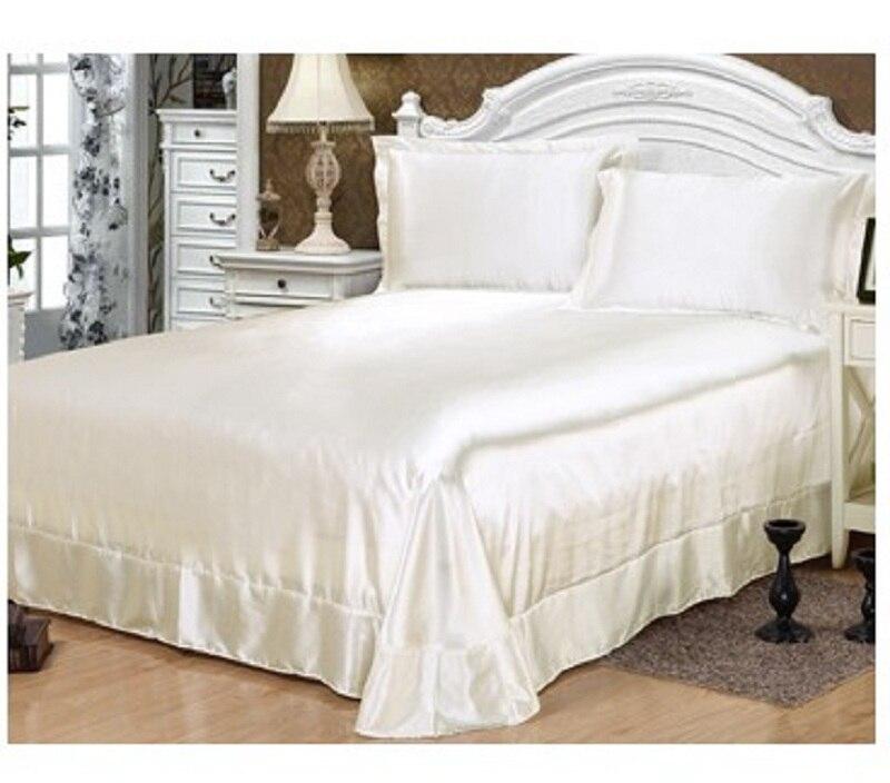 bed sheet set silk bedding sets chinese satin sheets bedspreads bedsheet solid cal king size. Black Bedroom Furniture Sets. Home Design Ideas