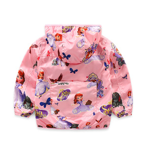 Image 4 - Chaquetas con capucha para niñas, ropa de exterior, abrigo de princesa para niños, chaqueta para bebé, cortavientos, traje rosa, novedad de 2020