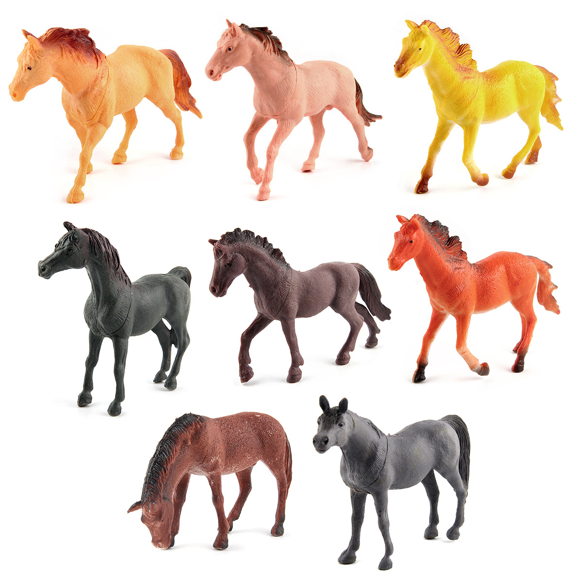 Wild animal model horse toys preschool cognitive static model of solid environmental protection decoration piaget s cognitive development model