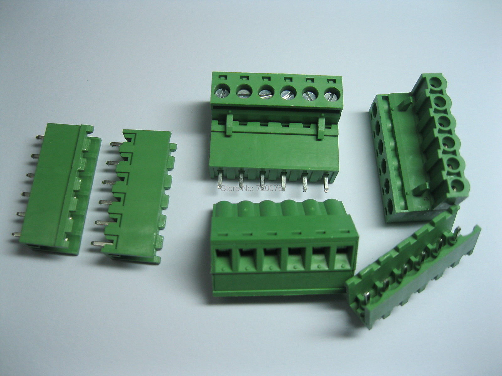 100 pcs Green 6 pin 5.08mm Screw Terminal Block Connector Pluggable Type 30 pcs screw terminal block connector 3 81mm 12 pin green pluggable type