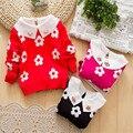 New outono inverno infantil do bebé blusas crianças outwear computador camisola de malha pullover menina blusas