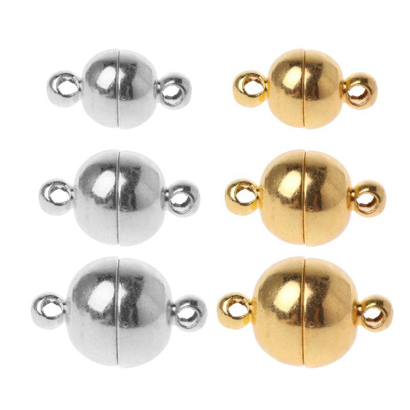 99.4руб. 20% СКИДКА|Магнитный Зажим конвертер в форме шара из нержавеющей стали для ювелирных изделий, 10 шт., золотой, серебристый, белый|Ювелирная фурнитура и компоненты| |  - AliExpress
