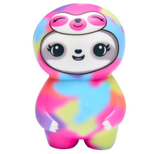 купить Jumbo Colorful Sloth Squishy Slow Rising Kawaii Doll Scented Stress Relief Soft Squeeze Toy Funny Kid Baby Toy Gift for Children по цене 224.3 рублей