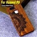 Caja de madera de lujo para huawei p9 populares retro de madera natural talla de diseño con caja del teléfono duradero