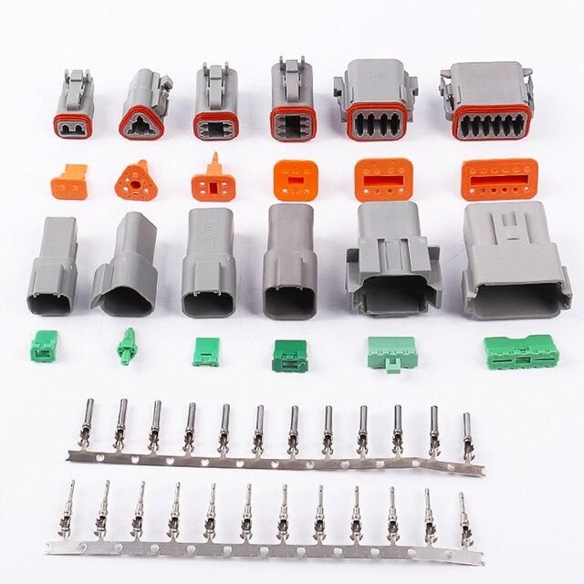 Водонепроницаемый Электрический автомобильный провод, 1 комплект, 2/3/4/6/8/10/ Pin, 14 18 AWG 12P, гнездовой и мужской, серый, для соединителя автомобиля