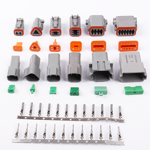 1SET 2/3/4/6/8/10/ Pin Waterproof Electrical Automotive Wire 14-18 AWG 12P Female and Male Grey for Deutsch Connector Motor Car