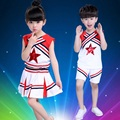 Retail Kids Performance Costumes Suits Children Cheerleading Uniforms Dancewear Boys Girls Students Aerobics Cheerleader Costume