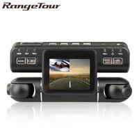 Range Tour Car DVR Dual Lens i4000 HD Car DVR Camera Video Recorder 2.0 Inch LCD G Sensor 320 Degree 2 Camera Dash Cam