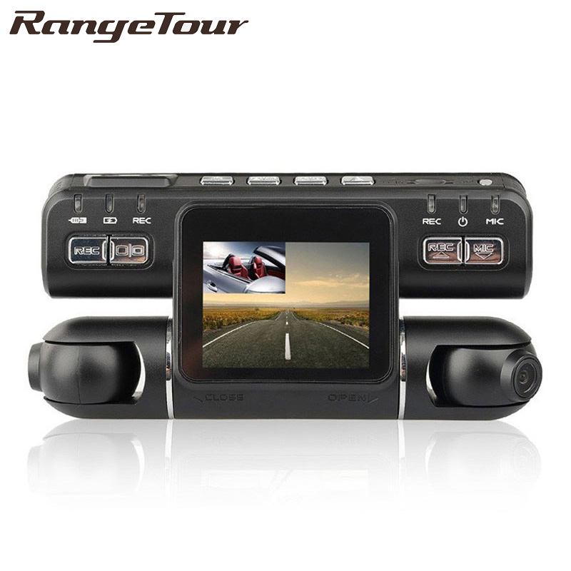 Range Tour voiture DVR double lentille i4000 HD voiture DVR caméra enregistreur vidéo 2.0 pouces LCD g-sensor 320 degrés 2 caméra Dash Cam
