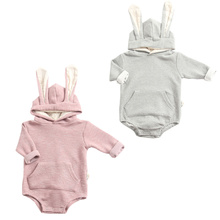 Celveroso Hooded Baby Romper cute rabbit ear Jumpsuit Jumper Outfits Long Sleeve Cotton Boy&Girl Kids Baby Rompers NewBorn cloth