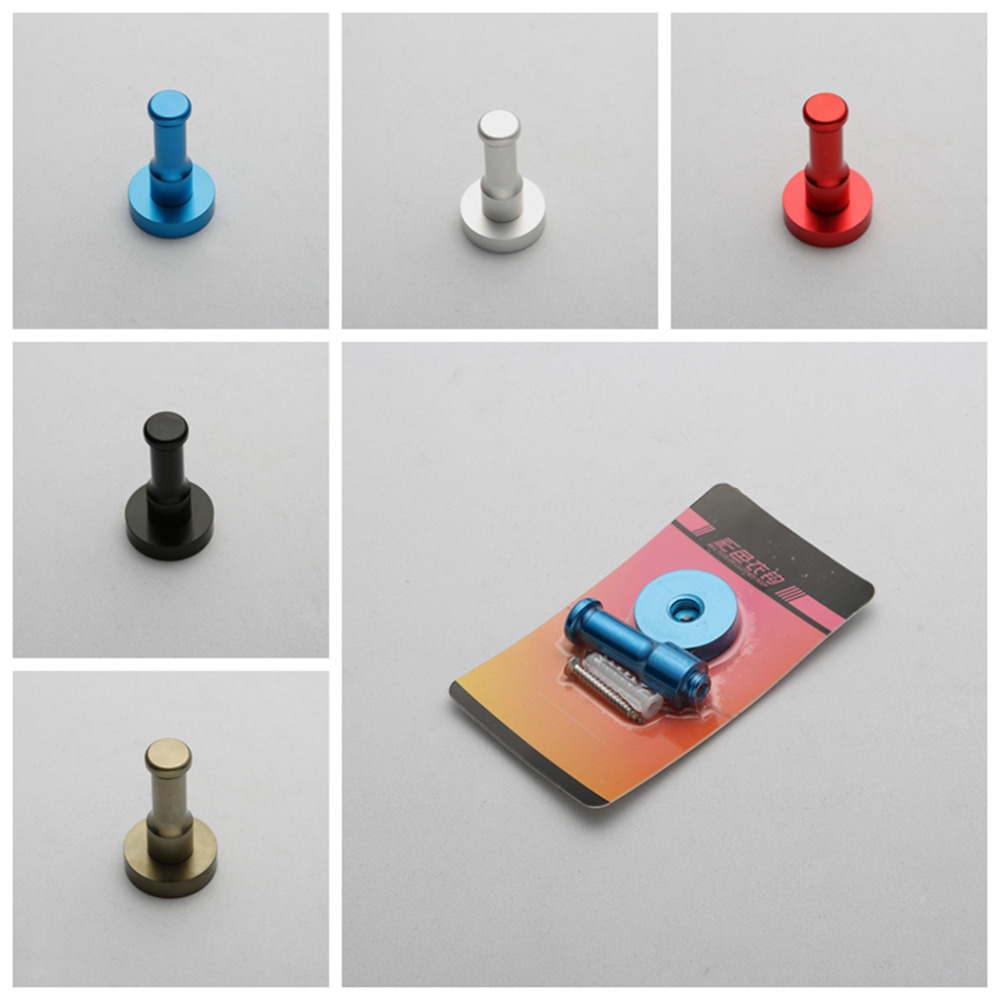 9 Farben Raum Aluminium Multi farbe DIY Handtuch Wand Haken Nagel ...
