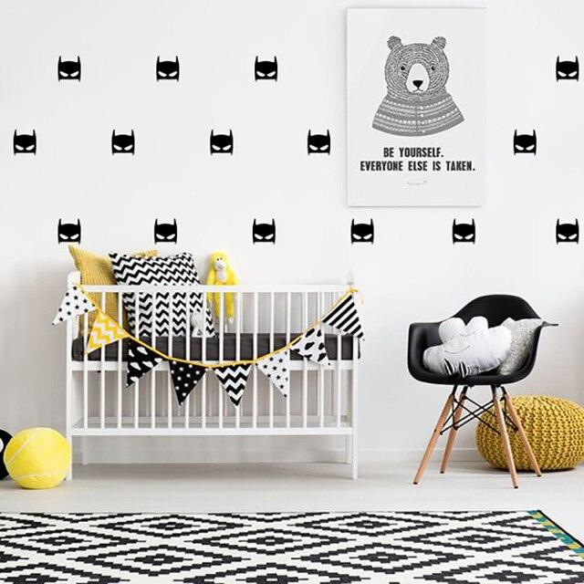 Superhero Batman Wall Sticker For Kids Room Baby Boy Room Wall Decor Kids Bedroom Home Decor Wallpaper Vinyl Wall Stickers