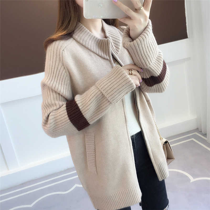 Di vendita superiore del prodotto giacca di Maglia donna manica lunga in maglia top bianco cardigan Femminile delle Donne di alta qualità cappotto del maglione di autunno r1003