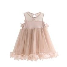 цена на 2017 Flower Baby Girls Princess Dress Chiffon Casual Party Pageant Sweet Tutu Dresses High Quality