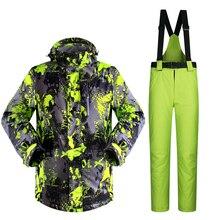 New Man Ski Suit Snowboard Ski Jacket+Pants Outdoor Wear Skiing Camping Hiking Suit Set Super Warm Clothing 2016 Suit