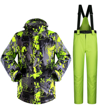 New Man Ski Suit Snowboard Ski Jacket+Pants Outdoor Wear Skiing Camping Hiking Suit Set Super Warm Clothing 2016 Suit